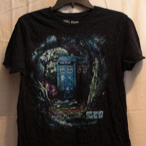 Doctor Who Black Graphic Tee Size Medium